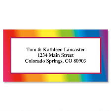 Labels With Border Rainbow Border Address Labels