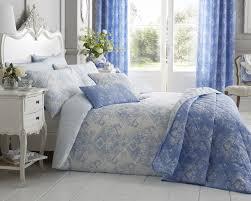 toile fl damask bedding range in blue