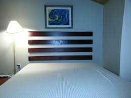 bedroom simple easy diy headboards with comfortable double bed beside unusual stand lamp closed simple