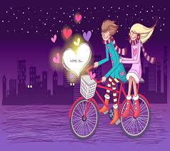 couple cartoon love cool hd wallpaper