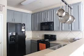 Gray Kitchen Cabinets Black Appliances \u2013 Quicua.com