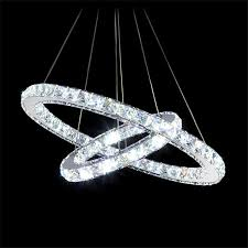modern luxury 2 double rings led crystal chandelier light fixture with regard to attractive home circle crystal chandelier ideas