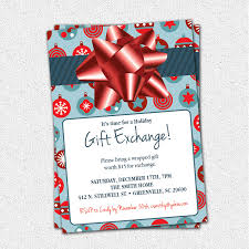 Christmas Party Invitation Wording With Gift Exchange