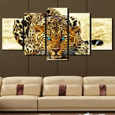 5 plane abstract leopards modern home decor wall art canvas animal picture print painting set of on home decor wall art australia with 5 plane abstract leopards modern home decor wall art canvas animal