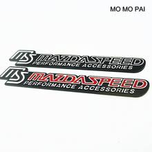 mazdaspeed emblem. 2017 hot car styling emblem aluminum trunk badge sticker 3d fit for ms mazdaspeed high t