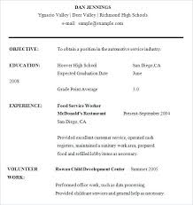 Objective For High School Resumes Sample Of High School Resume Dew Drops