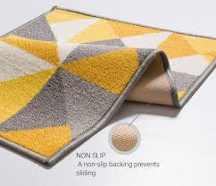 attractive rubber backed area rugs nice on bedroom lex casual geo multi color