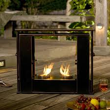 stand alone outdoor fireplace awesome indoor outdoor electric fireplace outdoor designs