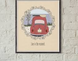 Vw Quote Adventure Quote Vw Beetle Art Inspirational Home Decor 47