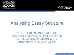"analysing essay structure ""the cultural anchoring of leadership  1"