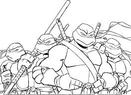 Teenage Mutant Ninja Turtles Coloring Pages Printable Free Picture