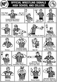 High School Football Referee Signals Chart Wrestling Referee Signals Wish I Has This A Few Years Ago