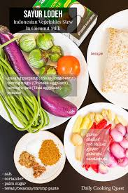 Sayur lodeh (tidak pedas) bahan sayur : Sayur Lodeh Indonesian Vegetable Stew In Coconut Milk Recipe Daily Cooking Quest