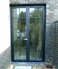 french doors patio to replace a sliding glass door black exterior double