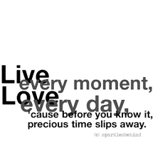 Quotes About Living Life In The Moment Custom Live Every Moment Love Every Day 'Cause Before You Know It Your