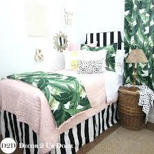palm leaf black white top dorm room bedding blush pink quilt designer dorm dorm room bedding