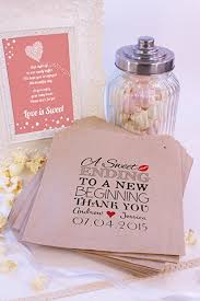 Personalised Wedding Sweet Bags A SWEET ENDING Candy Cart Wedding Favours  Confetti Engagement (100,