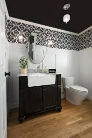 Powder Room Wallpaper Always On Trend 20 Powder Rooms In Black And White