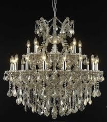 picture of elegant 2800d36gt gt rc maria theresa chandeliers golden teak 36in