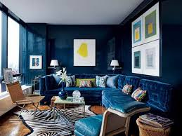 Peacock Color Living Room Dark Blue Living Room Ideas