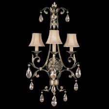 fine art lamps 162150 a midsummer night s dream large 3 light crystal classic wall sconce loading zoom