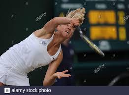 Tennis - Wimbledon - All England Lawn Tennis & Croquet Club, Wimbledon,  England - 29/6/09 die britische Jocelyn Rae in Aktion während ihres  Mädchenallingermatches Pflichtfeld: Action Images / Tony O'Brien Livepic  Stockfotografie - Alamy