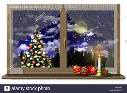 Weihnachtsfenster Dekoration Stockfotos Weihnachtsfenster
