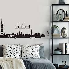 dubai skyline wall sticker wall art com