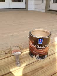 outdoor deck paint or stain. deck stain color: sherwin williams baja beige. semi transparent. outdoor paint or
