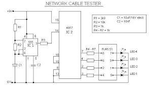 network rj cable tester circuit network rj45 cable tester circuit