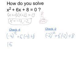 solve x 2 6x 8 0