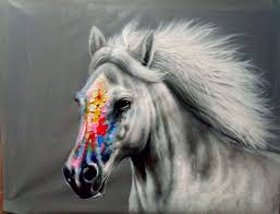 100 hand made horse oil painting design