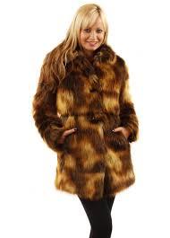 golden fox faux fur coat