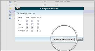 how to change file folder permissions