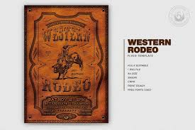 Editable Flyer Template Western Rodeo Flyer Template Free Posters Design For Photoshop