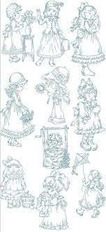Vintage Embroidery Designs Machine Girls Of Yesteryear Designs Machine Embroidery Embroidery
