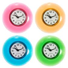 silicone bathroom kitchen shower suction wall clock multicolor water resistant timer glass wall window mirror shower clock high quality shower sucti china