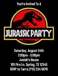 Jurassic Park Invitations Jurassic Park Birthday Party Invitation Template Postermywall