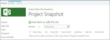 Online Snapshot Capture A Snapshot Of Project Data Using Sharepoint Designer