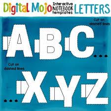 Templates Alphabet Letters Interactive Notebook Clipart Templates Alphabet Letters