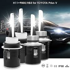 2013 Prius Bulb Chart 2019 Wholesale Led Auto Headlight H11 9005 Hb3 Led Headlamp Bulbs For Toyota Prius V 2014 2012 Dedicated 6000k Front Car Light From Zhongfucar 59 52