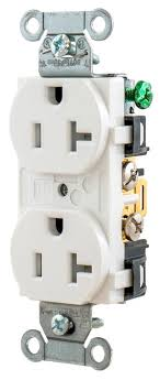 hubbell wiring br20whitr hubbell br20whitr wiring device kellems receptacle duplex white 20a