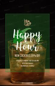 Happy Hour Flyer Bar Promotion Happy Hour Online Flyer Maker 173b