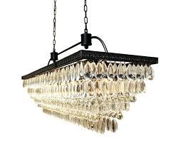 chandeliersrectangular glass drop chandelier home design ideas clarissa large