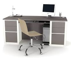 bestar connation executive desk kit in bordeaux slate home depot canada