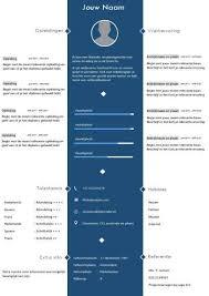 Voorbeeld Cv Templates Sjablonen In Word Format Inclusief