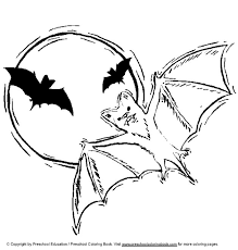 Small Picture Vampire Bat Coloring Page Bats Worksheets And Teaching Colors