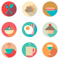 Google Flat Design Icons Free Food Icon Set From Oygenna Com Food Icons Food Web