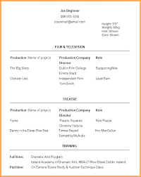 Audition Resume Templates Beginner Actor Resume Template Artikelonline Xyz