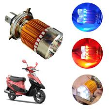 Adroitz 4 Led H4 High Low Beam Bike Headlight Bulb With